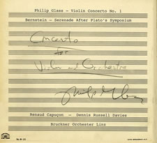 Glass Bernstein Violin Concertos,New Album from Capuçon, Davies, and Bruckner Orchester Linz